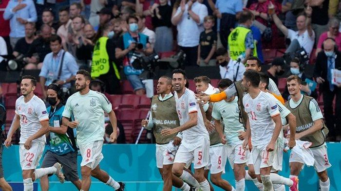 Drama 8 Gol di Kopenhagen, Spanyol Kalahkan Kroasia, Kunci Satu Tiket di Perempat Final Euro 2020