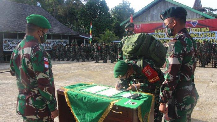 Danrem 092 Maharajalila Brigjen TNI Suratno Pimpin Serah Terima Alih Kodal Satgas Pamtas RI-Malaysia