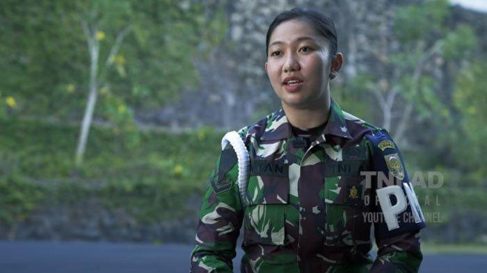Sosok Serda Intan, Ajudan Istri Panglima Kodam Sriwijaya, Mantan Atlet Nasional yang Jago Menembak