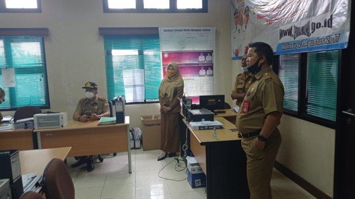 Sidak Hari Pertama Kerja, Sejumlah Pegawai Absen, Sekda Malinau Ernes Silvanus Ancam Beri Sanksi