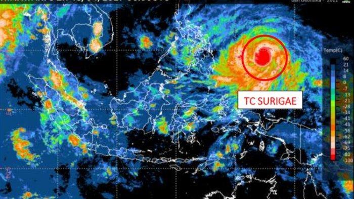 Siklon Surigae Meningkat 24 Jam ke Depan, 9 Provinsi Termasuk Kalimantan Utara Diminta Waspada