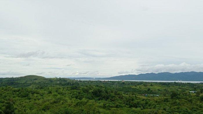 Situasi langit cerah berawan di Kecamatan Nunukan Selatan, siang hari belum lama ini. TRIBUNKALTARA.COM/ Febrianus felis