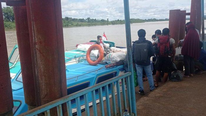 Suasana di pelabuhan Speedboat Malinau Kota, Kabupaten Malinau, Provinsi Kalimantan Utara, beberapa waktu lalu.
