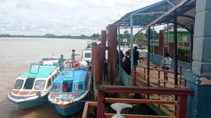 Suasana di Pelabuhan Speedboat Malinau Kota, Kecamatan Malinau Kota, Kabupaten Malinau, Provinsi Kalimantan Utara, beberapa waktu lalu.