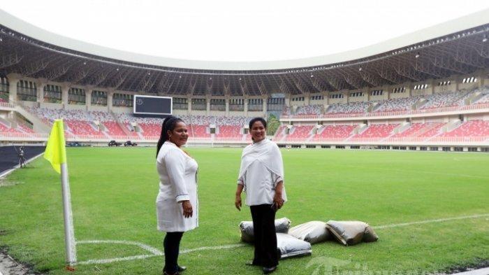 Stadion Lukas Enembe yang akan menjadi venue PON Papua, saat dikunjungi Ibu Negara Iriana Jokowi beberapa waktu lalu.