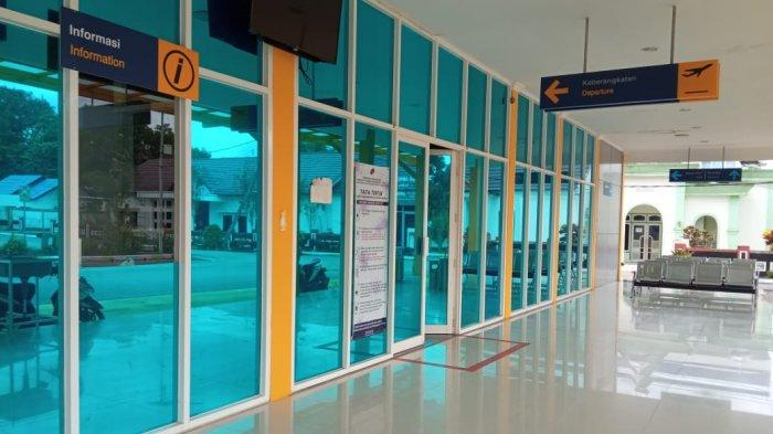 Larangan Mudik Lebaran Idul Fitri 1442 H, Bandara Tanjung Harapan Bulungan Terlihat Sepi Penumpang