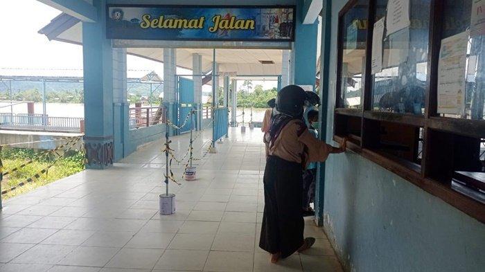 Suasana di pelabuhan Speedboat Malinau Kota, Kabupaten Malinau, Provinsi Kalimantan Utara, beberapa waktu lalu. (TRIBUNKALTARA.COM/MOHAMMAD SUPRI)