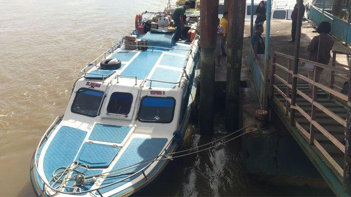 Suasana di Pelabuhan Speedboat Malinau Kota, Kabupaten Malinau, Provinsi Kalimantan Utara, Kamis (16/9/2021). (TribunKaltara.com / Mohammad Supri)