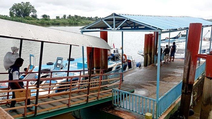 Suasana di pelabuhan Speedboat Malinau Kota, Kabupaten Malinau, Provinsi Kalimantan Utara, beberapa waktu lalu. (TribunKaltara.com / Mohammad Supri)