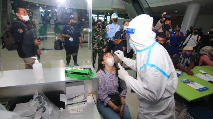 MENGEJUTKAN! Lakukan Rapid Antigen Acak, 1 Penumpang di Bandara SAMS Balikpapan Positif Covid-19