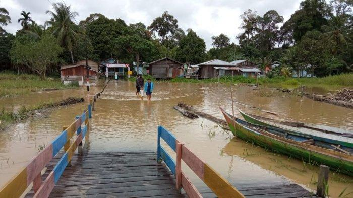 Sempat Capai 8 Meter, Ketinggian Air di Hulu Sungai Kayan Mulai Surut, Cuaca di Peso Terpantau Cerah