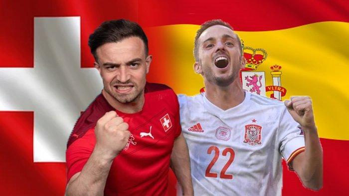 Jadwal Euro 2020 Live Streaming Swiss vs Spanyol, Siaran Langsung di RCTI Pukul 22.15 Wib
