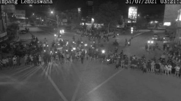 Viral di Medsos, Kerumunan Massa Balap Liar di Samarinda saat PPKM Level IV, Diduga jadi Ajang Judi