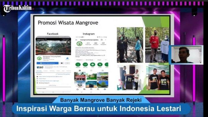 Tangkapan layar Talkshow Banyak Mangrove Banyak Rejeki, Kampung Tanjung Batu memaparkan ekosistem Mangrove yang berperan penting bagi warga mereka.