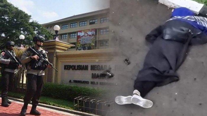 Seorang misterius tewas ditembak saat menerobos masuk ke Mabes Polri di Jl Trunojoyo, Jakarta, Rabu (31/03/2021). (Kolase TribunKaltara.com / Tribunnews dan Istimewa)