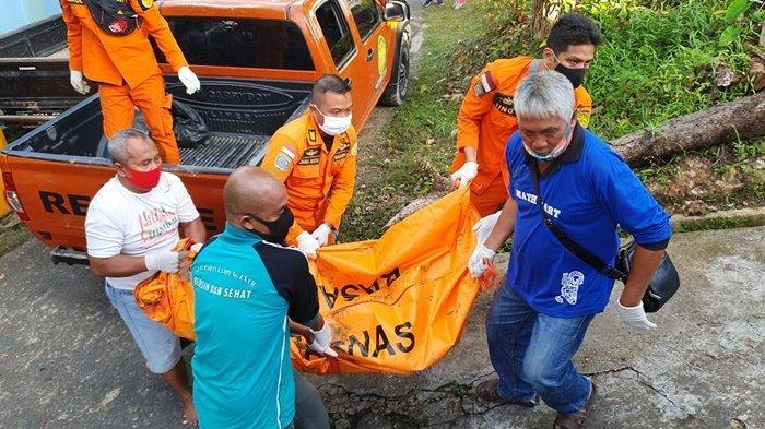 Basarnas berserta tim gabungan lainnya berhasil temukan orang hilang saat menjala ikan di perairan Bandara Juwata Tarakan, Minggu (11/10/20) pagi. (HO/Basarnas Tarakan)