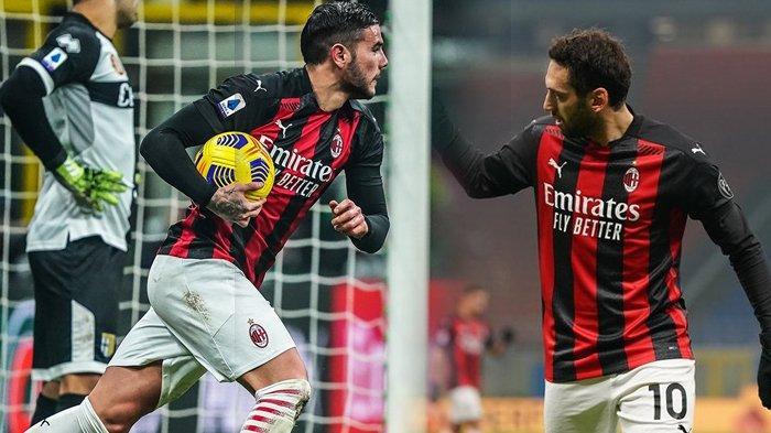 Hasil Liga Italia, Nyaris Kalah di Kandang, Theo Hernandez Jadi Pahlawan AC Milan Imbangi Parma