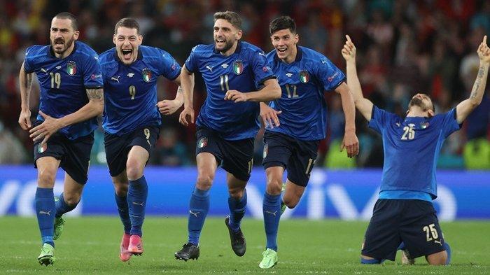 Tumbangkan Spanyol, Italia Melenggang ke Final Euro 2020, Tunggu Pemenang Inggris vs Denmark