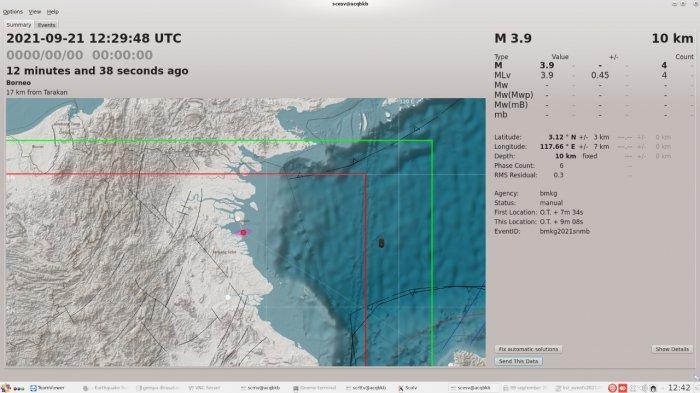 Gempa Berkekuatan 3,9 SR Guncang Kota Tarakan Kaltara, BMKG Akui Sempat Terjadi Gempa Susulan