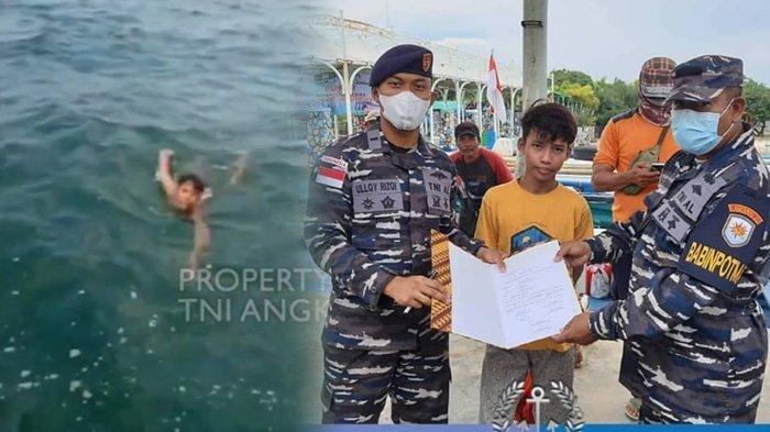 Aksi Heroik TNI AL Selamatkan Anak Terombang-ambing di Laut Selama 3 Jam, Terjatuh dari Speedboat