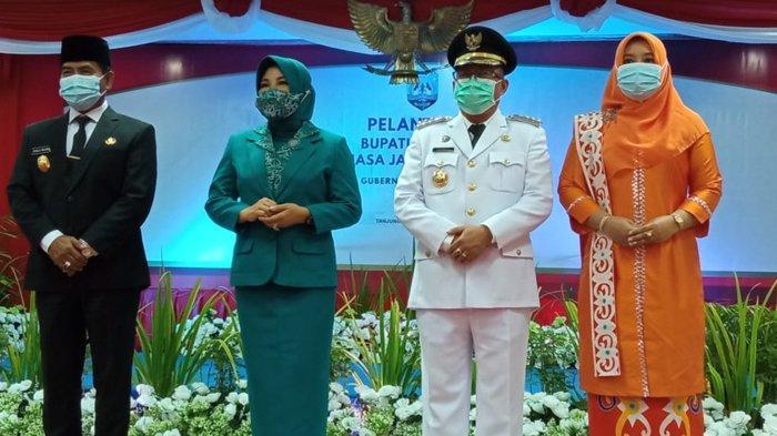 Bupati Malinau Topan Amrullah, dilantik oleh Gubernur Kaltara Zainal Paliwang di Gedung Gadis, Tanjung Selor (TribunKaltara.com / Maulana Ilhami Fawdi)
