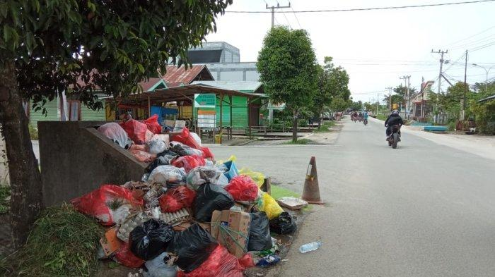 Imbas Libur Tahun Baru 2021, Sampah Warga di Tanjung Selor Kaltara Masih Menumpuk