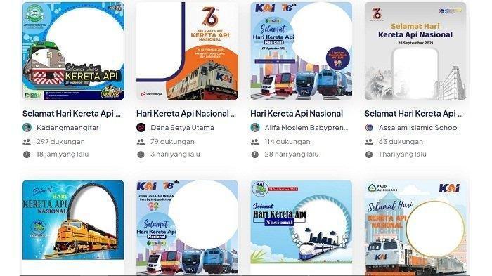 20 Link Twibbon Hari Kereta Api Indonesia, Buat Ucapan dan Bagikan ke Media Sosial