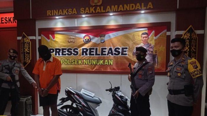 Unit Reskrim Polsek Nunukan berhasil ringkus residivis pencurian dengan pemberatan (Curat) di Pelabuhan Semayang, Balikpapan, Kalimantan Timur, Jumat (05/03/2021), pagi. TRIBUNKALTARA.COM/ Febrianus felis.