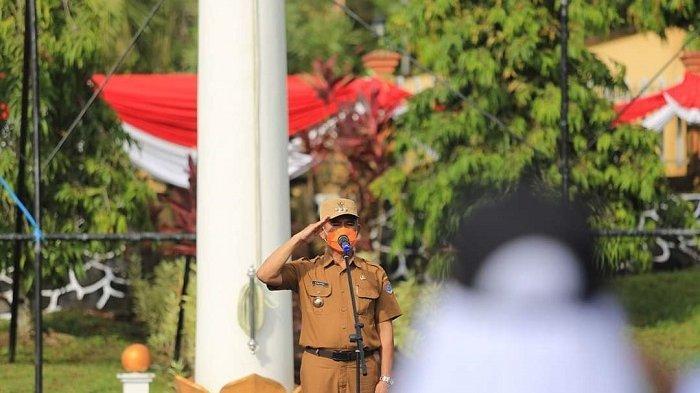 Wali Kota Tarakan, dr H Khairul, M.Kes memimpin upacara pembukaan pendidikan dan pelatihan (Diklat ) Calon Pasukan Pengibar Bendera Pusaka (Paskibraka) Kota Tarakan 2021.