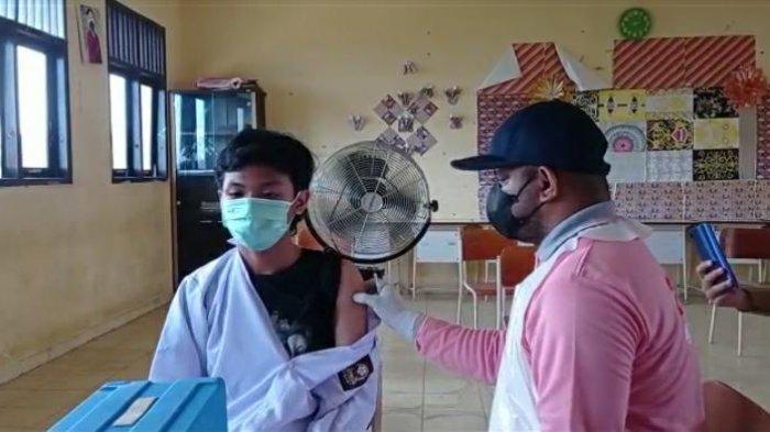 Vaksinasi Covid-19 di Kecamatan Sesayap, Kabupaten Tana Tidung.