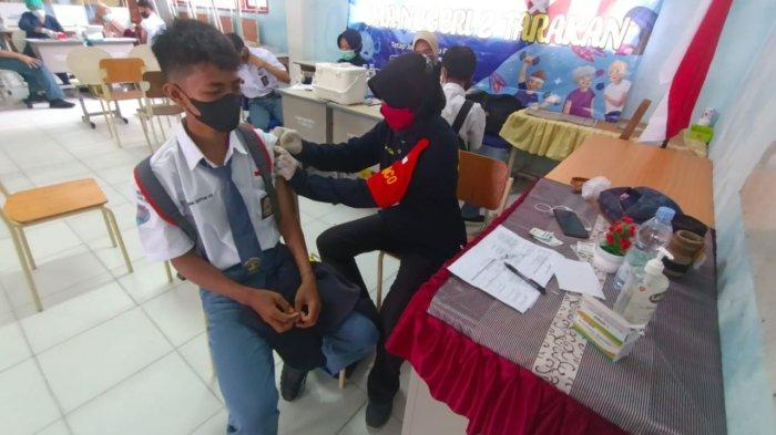 Vaksinasi pelajar dilakukan di Kota Tarakan Provinsi Kaltara