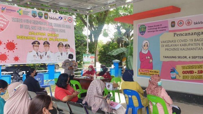 Bupati Bulungan Saat Sidak Vaksinasi Ibu Hamil di Puskesmas Tanjung Selor Jalan Mangga II.