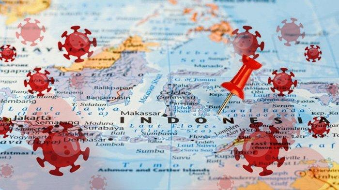 ILUSTRASI- Kasus Covid-19 Virus Corona di Indonesia (Kolase TribunKaltara.com)