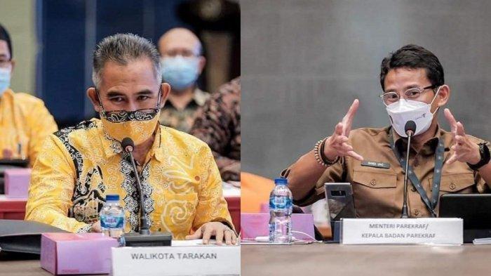 Wali Kota Hadiri Undangan Menteri Sandiaga Uno, Sampaikan Peluang Investasi Pariwisata di Tarakan