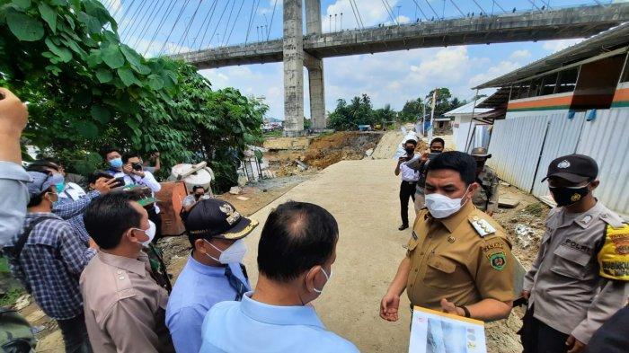 Usai Tinjau Lokasi, Walikota Samarinda Andi Harun Perintahkan Jalan Jembatan Mahkota II Ditutup