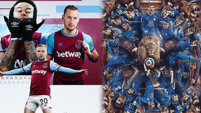Big Match Liga Inggris, Derby London West Ham vs Chelsea Live Streaming di Mola TV Pukul 23.30 Wib