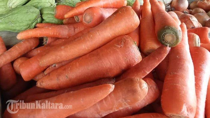Mengandung Vitamin A Tinggi, Harga Wortel di Pasar Imbayut Taka Tana Tidung Rp 35 Ribu Perkilogram
