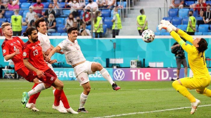 Hasil Euro 2020, Spanyol Lolos ke Semifinal, Tumbangkan Swiss Lewat Drama Adu Penalti, Skor 3-1