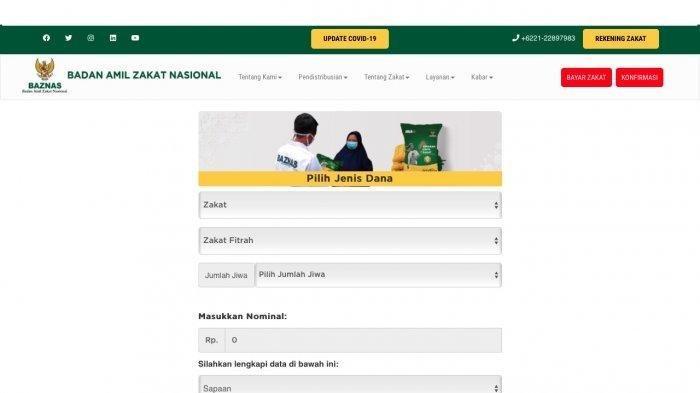 Cara Bayar Zakat Fitrah Online, Klik baznas.go.id/bayarzakat dan Ikuti Langkahnya