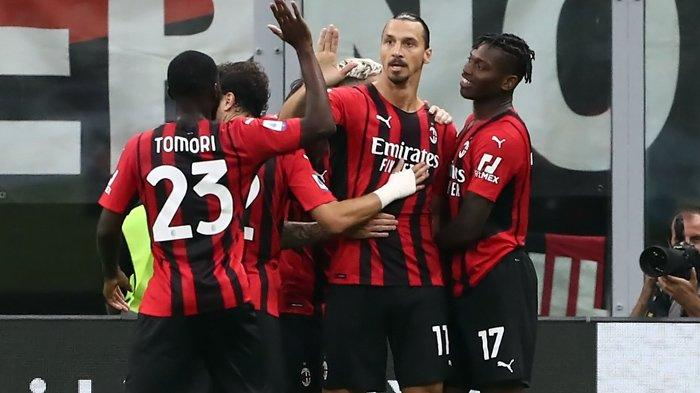 Hasil Liga Italia, Comeback Ibrahimovic Berujung Gol ke Gawang Lazio, AC Milan Lewati Inter Milan
