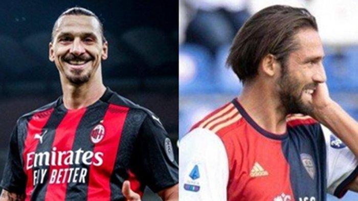 Maldini Cari Penerus Ibrahimovic, AC Milan Incar Leonardo Pavoletti Striker Tua Minim Gol Cagliari