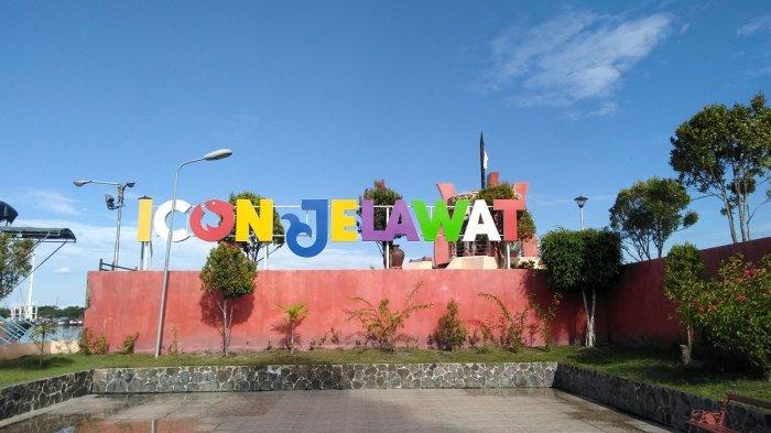Tugu Patung Jelawat Kota Sampit Kotim, Menikmati Pemandangan Sungai Mentaya dari Pinggiran