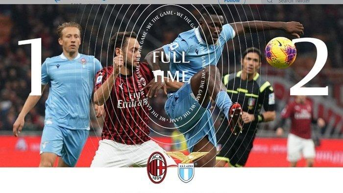 Ciro Immobile Beraksi, Tuan Rumah AC Milan Kalah 1-2 Kontra Lazio di Pekan ke-11 Liga Italia