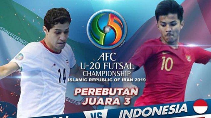 Siaran Langsung Live Streaming MNCTV Iran vs Indonesia Piala AFC U-20 Futsal 2019, Cetak Sejarah