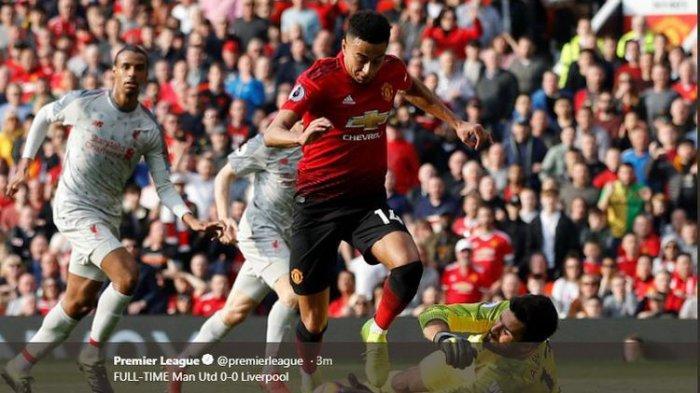 Manchester United Vs Liverpool Imbang dan The Reds Kembali ke Puncak Klasemen Liga Inggris