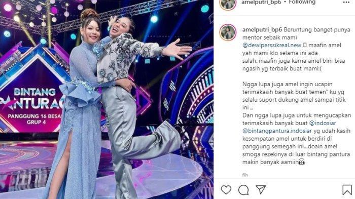 Ucapan Maaf Amel Grobogan si Anak Asuh Dewi Perssik, Aksinya di Bintang Pantura 6 Indosiar Dipuji