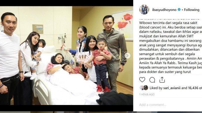 Ibu Ani Divonis Kanker Darah, Ibas Berharap Mukjizat