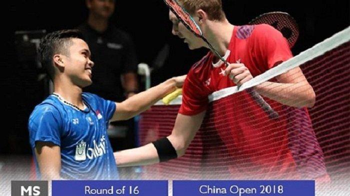 Hasil China Open 2018 : Menang Lawan Viktor Axelsen, Anthony Ginting Lolos Ke Perempat Final