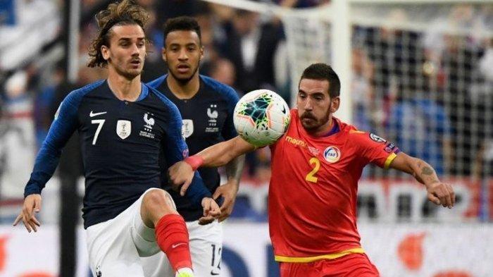 Kualifikasi Euro 2020 - Penalti Antoine Griezmann Gagal Lagi Meski Perancis Kalahkan Andorra 3 Gol