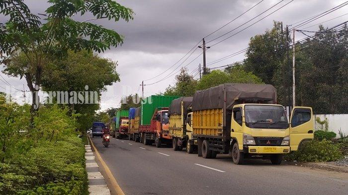 Tunggu Giliran Kapal Feri, Sopir Truk di Banjarmasin Kalsel  Dipalak Preman